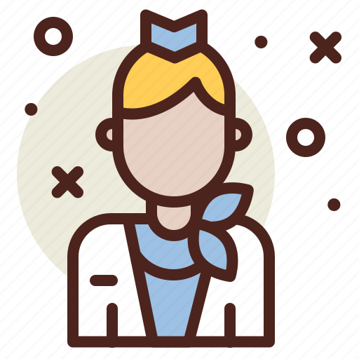Airplane, attendant, flight, travel icon - Download on Iconfinder