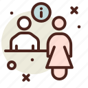 assistant, gate icon