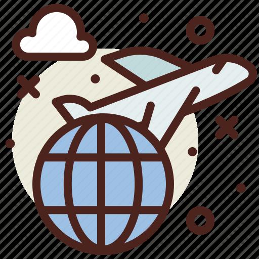 Airplane, flight, international, travel icon - Download on Iconfinder