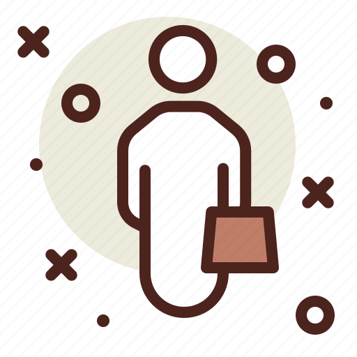 Man, passenger, suitcase, user, with icon - Download on Iconfinder
