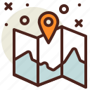 gps, map, travel icon