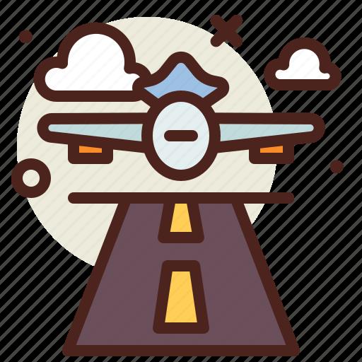 Airplane, flight, runway icon - Download on Iconfinder