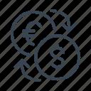 currency, exchange, money, convert