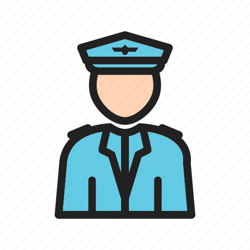 Aviation, captain, flight, jet, pilot, professional, uniform icon - Download on Iconfinder