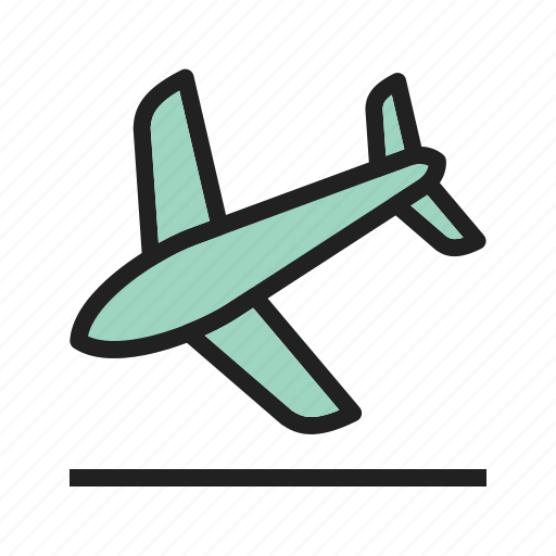 airport, approach, flight, landing, plane, runway, speed icon