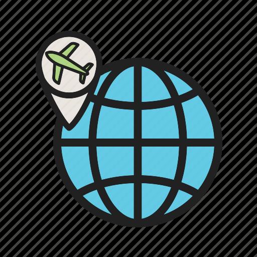 Air, airline, airport, departure, flights, international, transportation icon - Download on Iconfinder