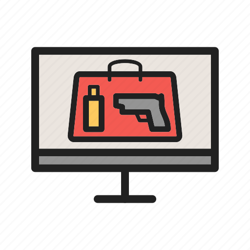 Luggage, scan, metal, airport, security, inspection, check icon - Download