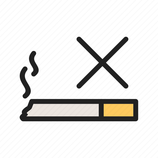 Passenger, no, travel, sign, aircraft, smoking, cabin icon