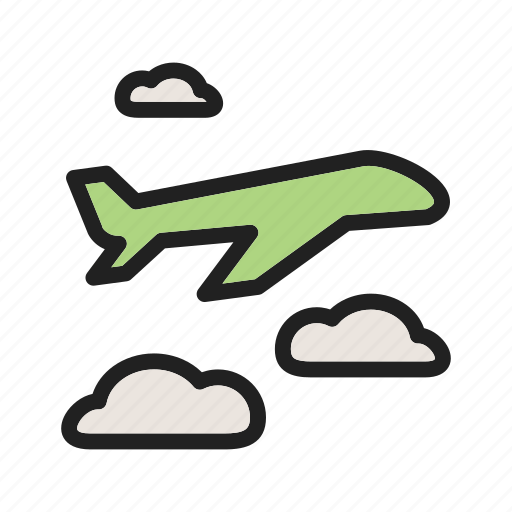 aeroplane, airplane, business, flight, passenger, sky, travel icon