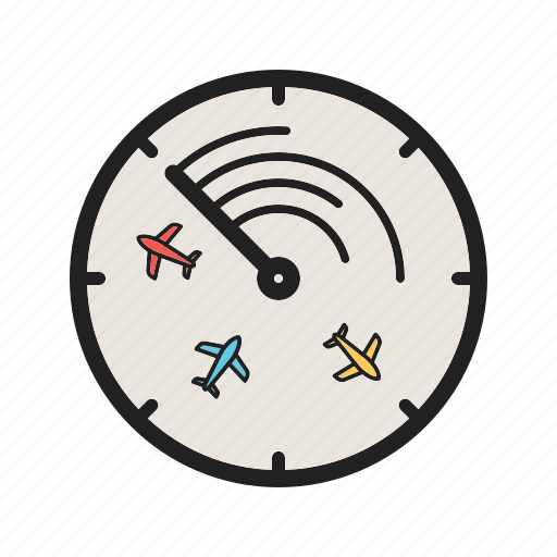 Airport, control, flights, radar, screen, technology, traffic icon - Download on Iconfinder