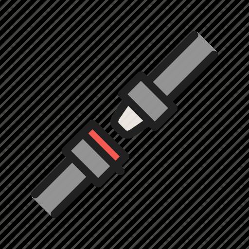 Airplane, belt, buckle, fasten, safe, seat, travel icon - Download on Iconfinder
