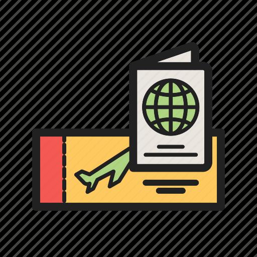 Airport, boarding, pass, passenger, passport, ticket, travel icon - Download on Iconfinder
