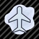 airport, flight, plane