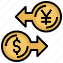 business, coin, commerce, dollar, exchange, finances, money icon