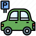 car, cars, parking, parkings, signaling, transportation, vehicles icon