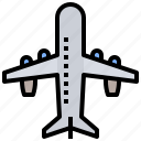 airairplane, plane, shape, silhouette, transport, transportation icon