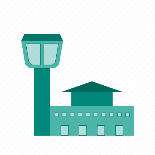 Aeroplane, airport, building, entrance, terminal, tower, wall icon - Download on Iconfinder