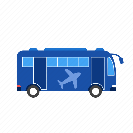 airport, bus, flight, gate, passengers, station, transport icon