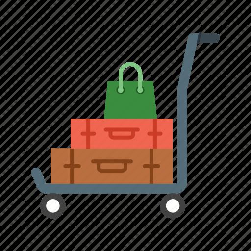 airport, baggage, lounge, luggage, people, travel, walking icon
