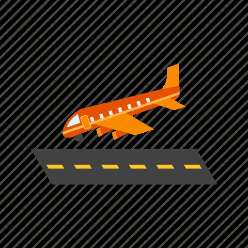 airport, approach, flight, landing, plane, runway, speed icon
