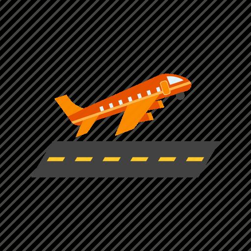aircraft, airport, aviation, flight, off, plane, takeoff icon