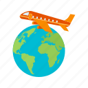 air, airline, airport, departure, flights, international, transportation icon