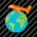 transportation, flights, departure, airport, airline, international, air icon