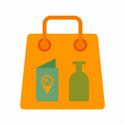 airport, cloths, items, luggage, scanner, suitcase, travel icon