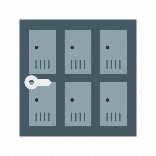 Room, lockers, lock, safe, storage, safety, security icon