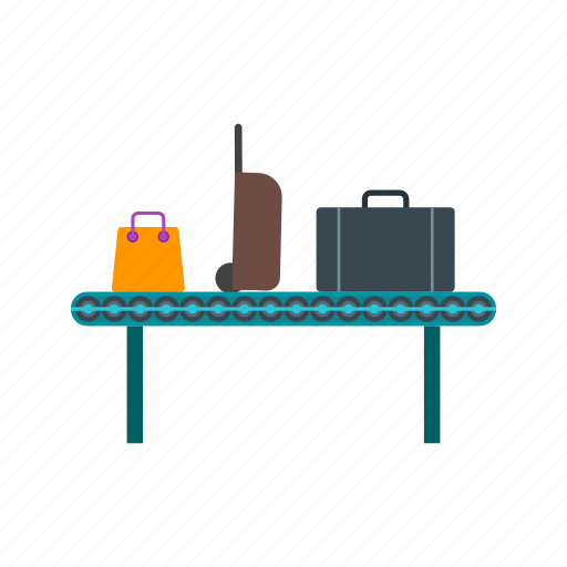 airport, bag, baggage, belt, carousel, claim, luggage icon