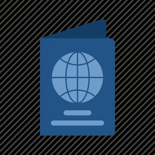 airport, pass, passenger, passport, stamp, travel, visa icon