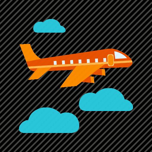 Aeroplane, airplane, business, flight, passenger, sky, travel icon - Download on Iconfinder
