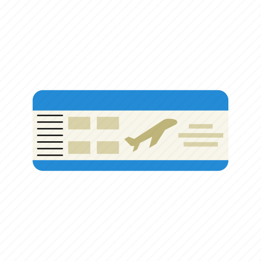 Airline, airport, boarding, flight, pass, ticket, travel icon - Download on Iconfinder