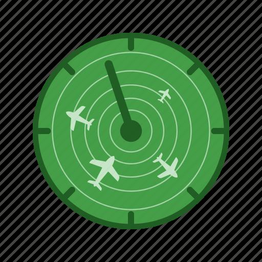 airport, control, flights, radar, screen, technology, traffic icon