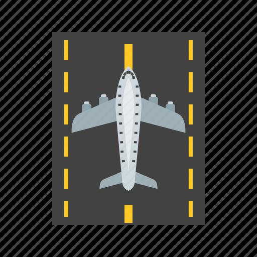 airport, aviation, flight, landing, plane, runway, travel icon