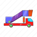airport, cartoon, runway, transport, transportation, trip, vehicle icon