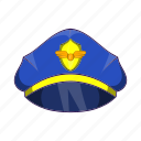 aircraft, airplane, captain, cartoon, hat, pilot, uniform icon