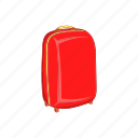 briefcase, cartoon, journey, luggage, suitcase, tourism, trolley icon