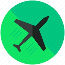 aeroplane, airplane, airport, flight, sign, transportation, travel icon