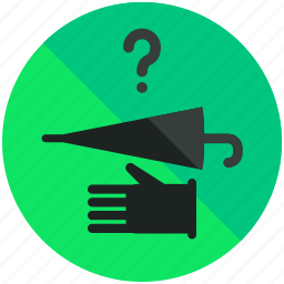 airport, assistance, hand, sign, umbrella icon