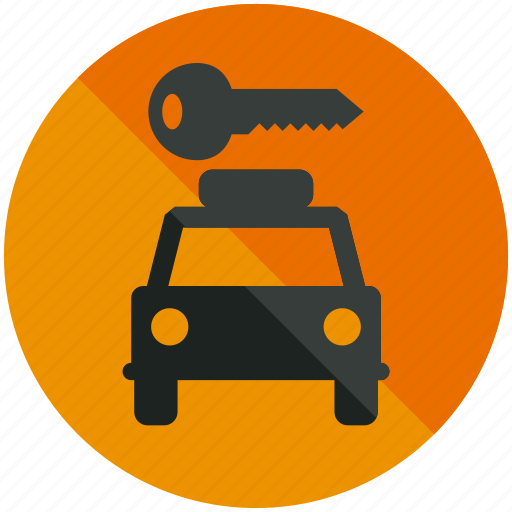 airport, car, hire, key, rent, sign, transportation icon
