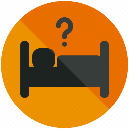 airport, bed, hotel, information, mark, question, sleep icon