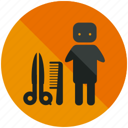 airport, comb, hairdresser, man, men, scissor, sign icon