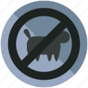 animals, forbidden, no, pets, prohibited icon