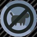 animals, forbidden, no, pets, prohibited icon