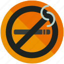 forbidden, no, prohibited, sign, smoking icon