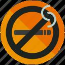 forbidden, no, prohibited, sign, smoking icon