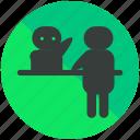 airport, assistance, desk, help, reception icon