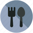 airport, cafe, food, fork, meal, restaurant, spoon icon