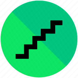 airport, direction, sign, stairs icon